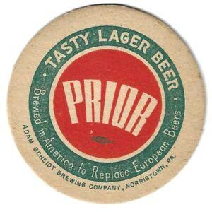 1930/40s ADAM SCHEIDT Brewery Beermat/Coaster Pennsylvania USA