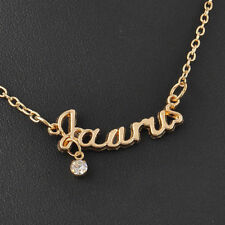 Unisex Gold Plated Zodiac Starsign Taurus Word Letter Guardian Necklace