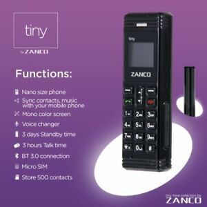 New Mini Small GSM Mobile Phone Dialer ZANCO CellPhone tiny phone bluetooth cell