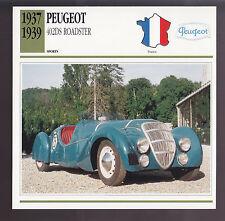 1937 1938 1939 Peugeot 402 DS Roadster France Car Photo Spec Info ATLAS CARD