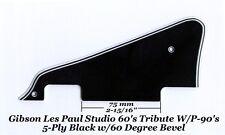 Les Paul LP Studio Black 5-Ply P-90's Pickguard Gibson Epiphone Project 60 Edge