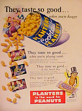 1950 PLANTERS PEANUTS Cocktail Salted Nuts Mr Peanut Icon Collectible Trade AD