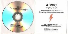 "AC/DC ""Anything Goes"" Acetate Promo DVD"