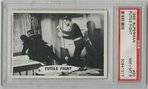 1966 Topps Superman #20 Futile Fight PSA 8