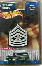HOT WHEELS 2002 MILITARY RODS ARMY '56 FORD PANEL GREEN
