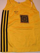 92d1229ce3212 VINTAGE t-shirt kid enfant ADIDAS ERIMA ERZEUGNIS w.germany LOGO sport JAUNE