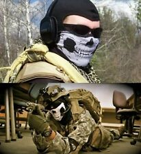 Military Paintball Airsoft Biker Ski Bike Skull Neck Skull Mask Bandanna fu