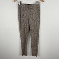 Zara Womens Pants XS Multicoloured Animal Print Elastic Waist Skinny