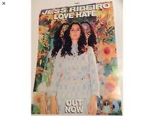 Jess Ribeiro Love Hate Album Release Poster 40 X 30 Cm