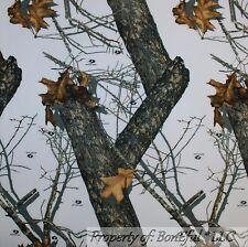 BonEful Fabric Fleece BTHY 1/2 Yd Mossy Oak Winter Camo Real Tree Hunt Cabin B&W