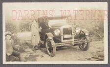 Vintage Car Photo Woman & Cute Boy w/ 1926 Chevrolet Chevy Convertible 747878