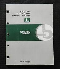 John Deere 1207 1209 1217 1219 Mower Conditioner Technical Service Repair Manual