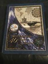 US NAVY SHIP CVN -65 Enterprise Aircraft Carrier Cruise Book 40 Years If Service
