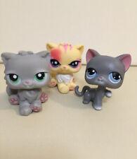 Lps Persian Cat Lot Gray Yellow 74 81 878 Littlest Pet Shop
