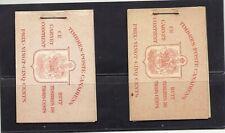 Canada Scott Bk34a & Bk34d 3c War Booklets French Vfmnh. Cats $139.50 Look!