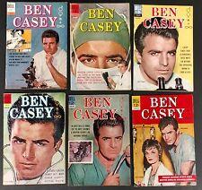 BEN CASEY 1962 DELL COMPLETE #1 TO 10+FILM STORIES VINCE EDWARDS T.V.SHOW!