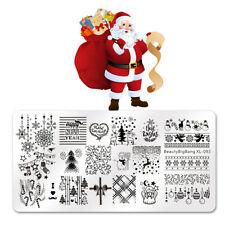 Nail Art Stamping Plates Stamp Christmas Theme Manicure Template Nail Stencil