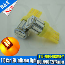 2x 10 SMD LED AMBER ORANGE INDICATOR SIGNAL TURNING SIDE LIGHT BULB T10 W5W 501