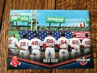 Boston Red Sox 2018 Topps Opening Day Opening Day at the Ballpark Insert