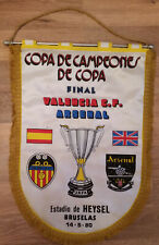Pennant: 1980 ECWC Final Arsenal V Valencia Number 2