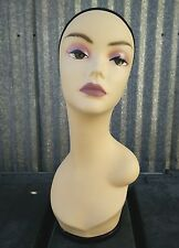 Less Than Perfect #436 Female Mannequin Head Display with Turntable Base (#1)