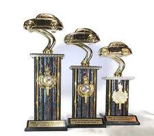 VW Bug Trophies, 3 Piece Set- Car- 1st, 2nd, 3rd Place- Vintage- Free Lettering