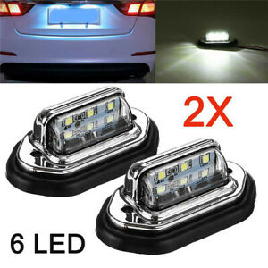 Car  Boat Truck Accessories Interior LED Lights For License Plate Lamp 12V 24V