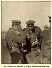 Zar Ferdinand von Bulgarien im Gespräch mit Kronprinz Boris 1916 *  WW1