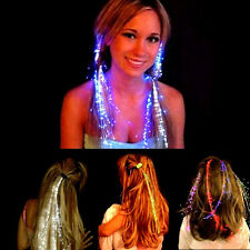 5x LED Hair Clip Flashing Multicolor on Braid Decoration Light Up Glow Party