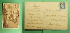 DR WHO FRENCH ALGERIA OVPT POSTCARD TO ENGLAND  f54021
