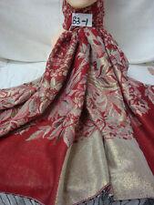 Reversible Metallic Jacquard Floral Silk Pashmina Scarf Wrap Burgundy
