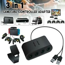 3in1 For Nintend o Switch/WiiU/PC/NGC 4Port USB For Game Cube Controller Adapter