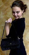 Rare Authentic Kate Spade NY Clutch/shoulder faux fur black lamb evening Bag