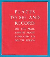 Original UNION CASTLE LINE England - South Africa Booklet Record + Map
