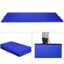 "New Blue 4'x8'x2"" Gymnastics Mat Thick Folding Panel Gym Fitness Exercise Mat"