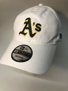 oakland athletics hat adjustable 49forty Fitted New Era Medium 👍 White