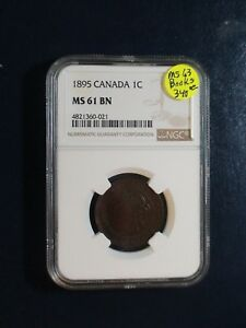 1895 Canada LARGE Cent NGC MS61 BN UNCIRCULATED 1C Coin BUY IT NOW!
