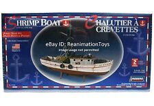 Lindberg Fishing Shrimp Boat 1/60 Scale Model Kit for HO Train Harbor Layout NIB