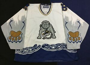 Vintage Long Beach Ice Dogs Hockey-Minors Bauer Jersey SizeXL