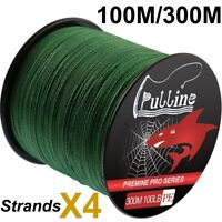 100/300M Spectra Green Strong Extreme PE Braided Fishing Line 4 Strands 6-100LB