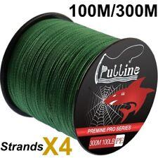 300m Super Pesca Línea Polietileno Spectra trenzado línea 4/8 Hilos Verde Musgo 6-100LB