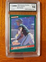 1986 Donruss The Rookies JOSE CANSECO GMA 10 A's Oakland