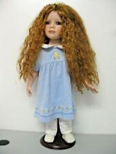 Porcelain Doll Merida 23 Inch Red Hair Green Eyes Soft Body