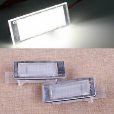 2pcs LED License Number Plate Lights Bulbs For Renault Espace MK4 Scenic Laguna
