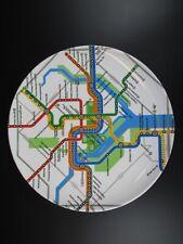 Washington Melamin Teller Plate,22,5 cm,U Bahn Subway Netz,Neu