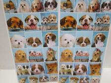 30 dog puppy cute faces stickers birthday party loot bag favours