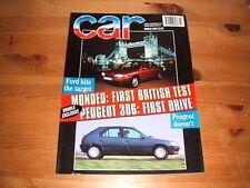 CAR MAGAZINE MAR-1993 - Diablo VT, Porsche 911 Turbo, Toyota Supra, Mondeo, Tipo
