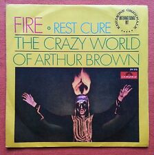 THE CRAZY WORLD OF ARTHUR BROWN-FIRE/REST CURE ITALY 7'' PS 1968 PSYCH