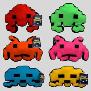 SPACE INVADERS ALIEN Plush Cuddly Toy Cushions Retro Gifts