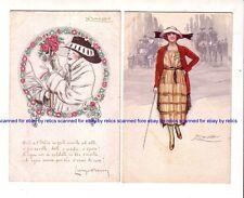 2 x  MAUZAN  Artist Glamour ITALIAN post cards  c.1910-20
